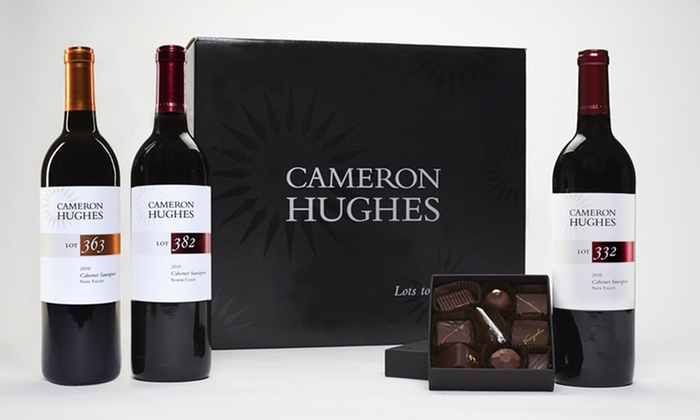 Cameron Hughes Wine and Chocolate Gift Sets: Cameron Hughes Wine and Chocolate Gift Sets. Three Options from $59.99–$69.99.
