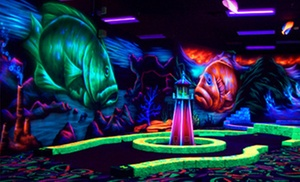 Oceans 18: Black-Light Mini Golf and Black-Light Mini Bowling for Up to Four or Eight at Oceans 18 (Up to 48% Off)