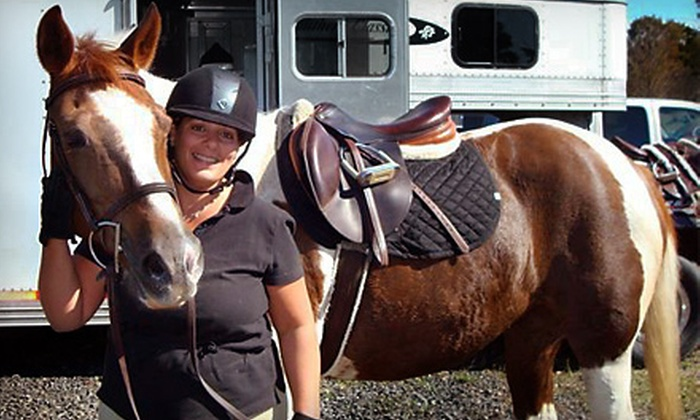 Chessfield Farm - Carmel Hamlet: One or Three Private Horse-Riding Lessons at Chessfield Farm in Carmel