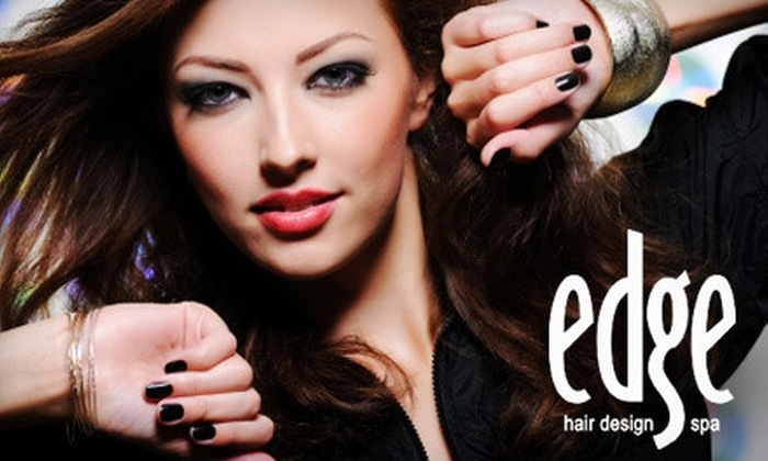 Edge Hair Design & Spa - Jackson: $35 for Your Choice of the Nonsurgical Facial Treatment ($75 Value) or Mani-Pedi ($60 value) at Edge Hair Design & Spa