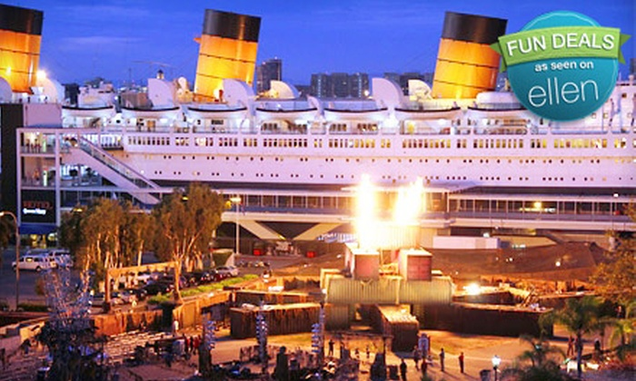 """Dark Harbor Experience and Admission to """"The Queen Mary"""" (Up to 51% Off).  Five Dates Available."""