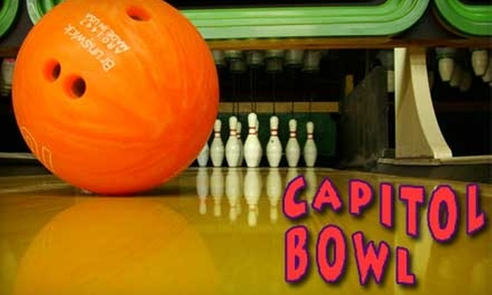 Capitol Bowl - Sacramento: Bowling for Two and Shoe Rental at Capitol Bowl. Choose From Two Options.