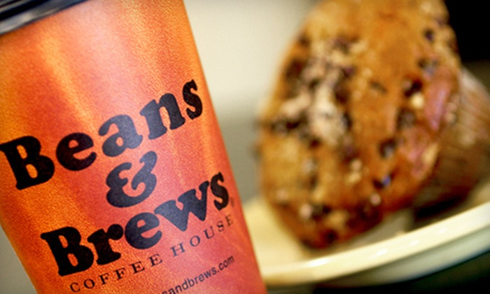Beans & Brews Coffee House - Multiple Locations: $5 for $10 Worth of Beverages, Pastries, and Coffee Beans at Beans & Brews Coffee House