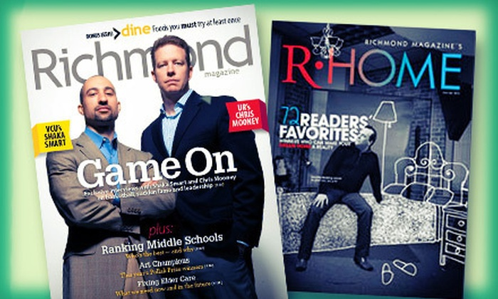 """Richmond & R-Home: $14 for a Two-Year Subscription to """"Richmond"""" and """"R-Home"""" Magazines ($26 Value)"""