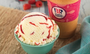 Baskin Robbins: Punch Card for 5 or 10 Single Scoops of Ice Cream at Baskin Robbins (Up to 41% Off)