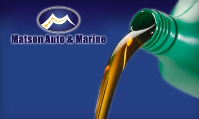 Matson Auto & Marine - Riverton: $25 for an Oil Change, Filter Change, and Tire Rotation at Matson Auto & Marine ($54.95 Value)