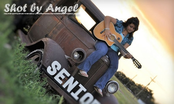 Shot by Angel - Amarillo: Senior Portrait Photo Shoot, Digital Images, and More from Shot by Angel (Up to $340 Value). Choose Between Two Options.