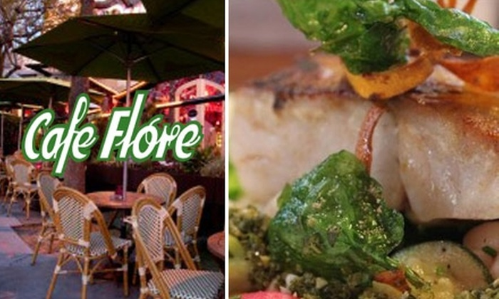 Cafe Flore - Duboce Triangle: $10 for $20 Worth of Pacific-Style Café Fare at Cafe Flore