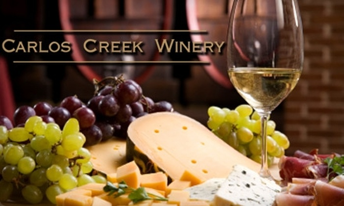 Carlos Creek Winery - Carlos: $30 for a Wine Tasting and Tour for Two, Meat and Cheese Tray, and Two Bottles of Wine at Carlos Creek Winery in Alexandria (Up to $65.20 Value)