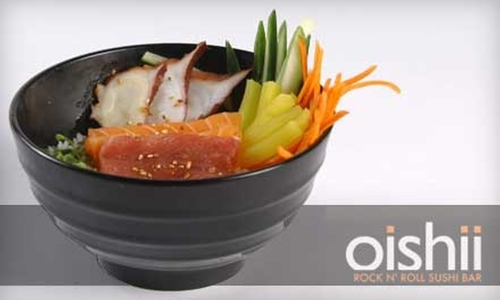 Oishii - City Centre: $15 for $30 Worth of Sushi and Asian Fare at Oishii