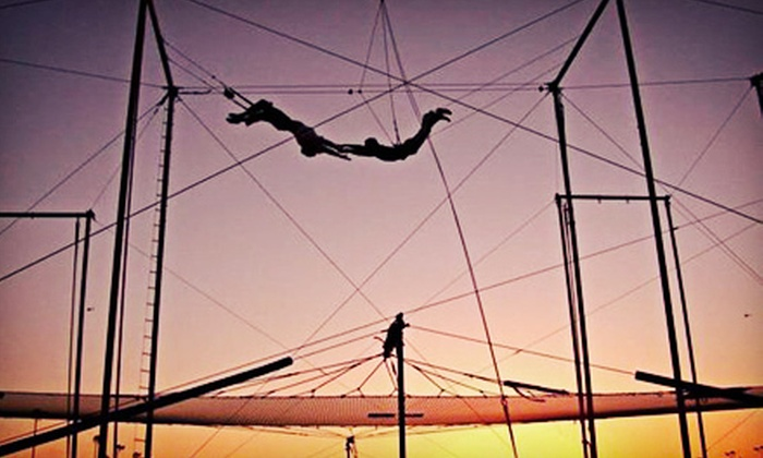 Trapeze School New York - TSNY Los Angeles LLC: Flying-Trapeze, Trampoline, or Silks Class for One or Two at Trapeze School New York (Up to 57% Off)