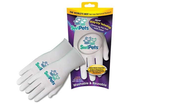 swipets pet hair removal gloves 2 pack groupon