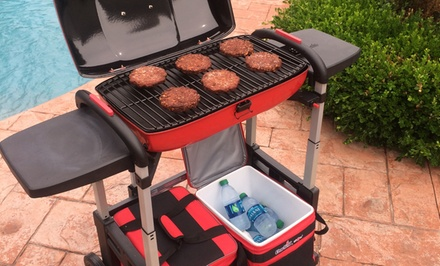 Charbroil Grill2Go ICE Portable Gas Grill and Cooler Cart Combo