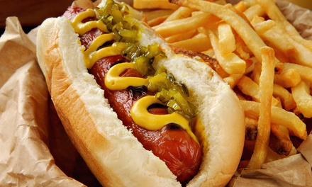 Specialty Hot Dogs, Poutine, and Sandwiches for Two or Four or More at Oh My Dog BBQ (42% Off)