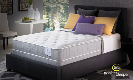 groupon daily deal - Serta Perfect Sleeper Plush Mattress Sets from $499.99–$899.99. Free White Glove Delivery. 20-Year Warranty.