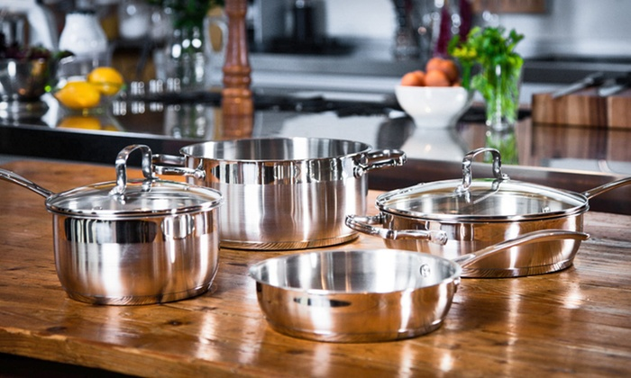 Kevin Dundon Stainless-Steel Cookware: $64.99 for a Kevin Dundon Six-Piece Stainless-Steel Cookware Set ($250 List Price). Free Shipping and Free Returns.