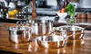 Kevin Dundon Stainless-Steel Cookware: Kevin Dundon Six-Piece Stainless-Steel Cookware Set ($250 List Price). Free Shipping and Free Returns.