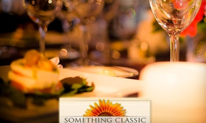 Something Classic Cafés - Multiple Locations: $10 for $20 Worth of Gourmet Sandwiches, Salads, Desserts, and More at Something Classic Cafés