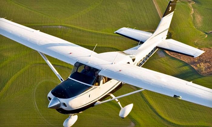 Burlington Aviation - Burlington: $99 for One-Hour Introductory Flight Lesson at Burlington Aviation ($198 Value)