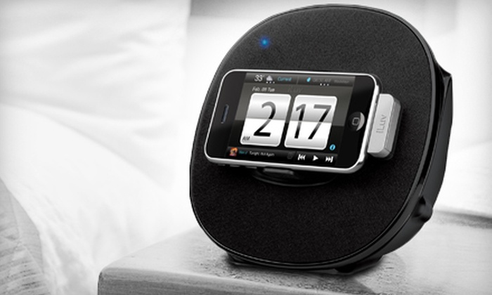 iLuv: $35 for an iLuv Alarm Clock and Stereo Speaker Dock ($89.99 Value)