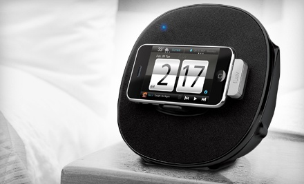 iLuv iMM190 App Station Alarm Clock and Stereo Speaker Dock for iPod and iPhone (a $90 value) - iLuv in