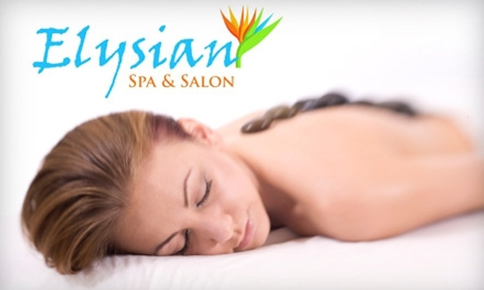 Elysian Spa and Salon - Niagara Falls: $50 For a Pedicure and Hot Stone Massage from Elysian Spa and Salon (a $118 Value)