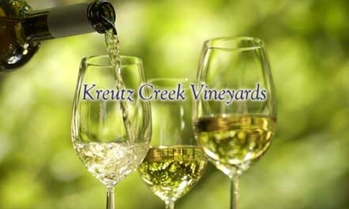 Kreutz Creek Vineyards - London Grove: $16 for a Wine Tasting and One Bottle of Wine at Kreutz Creek Vineyards (Up to $32 Value)