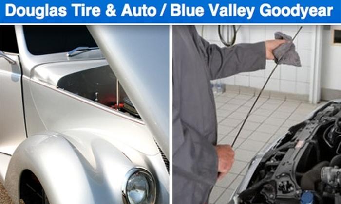 Douglas Tire & Auto/Blue Valley Goodyear - Multiple Locations: $15 Oil Change at Douglas Tire & Auto/Blue Valley Goodyear ($30 Value)