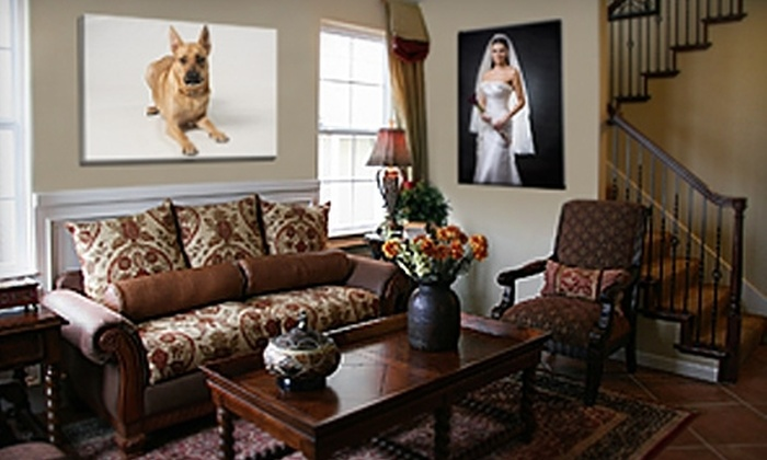 """Picture it On Canvas: $39 for One Photo Print Reproduced on a 16""""x20""""x1.5"""" Gallery-Wrapped Canvas from Picture it On Canvas ($124.95 Value)"""