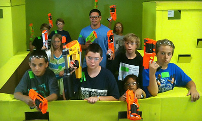 Dart Zone - Dart Zone: Three-Hour Nerf Tag Outing for Two or Day of Nerf Tag During Spring Break at Dart Zone (Up to 52% Off)