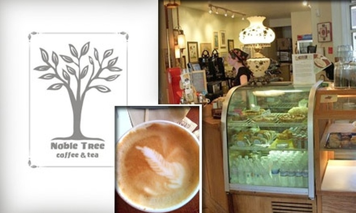 Noble Tree Coffee & Tea - Lincoln Park: $7 for One Pound of Metropolis Coffee Beans and a Small Cup of Drip Coffee at Noble Tree Coffee & Tea ($16 Value)