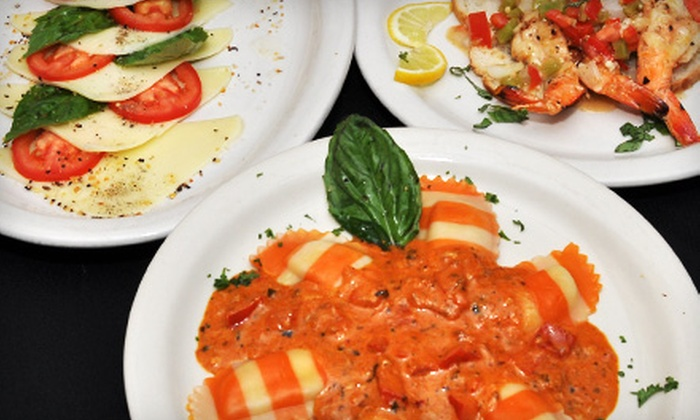 Little Napoli Italian Cuisine - Multiple Locations: Authentic Italian Fare for Breakfast, Lunch, or Dinner at Little Napoli Italian Cuisine & Bar (Up to 58% Off). Three Options Available.