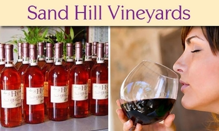 Sand Hill Vineyards - Geary: $12 Wine Tasting for Two and a Bottle of Wine to Take Home at Sand Hill Vineyards (Up to $26 Value)