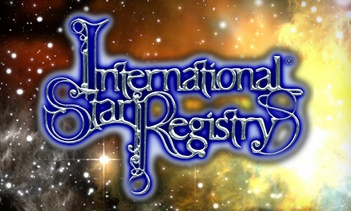 International Star Registry: $30 for $65 Toward Star Naming and More from the International Star Registry