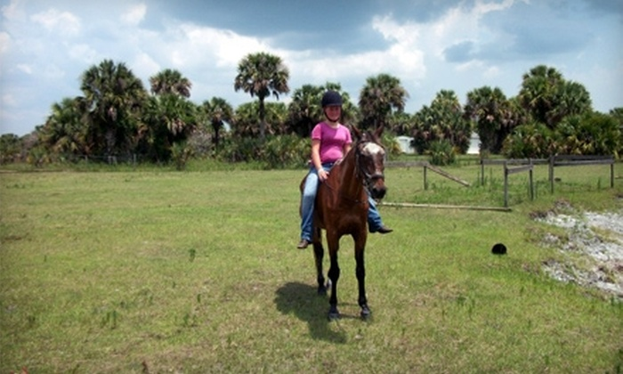 Desert Acres Stables - Cocoa: One-Hour Horseback Trail Ride or Five-Day Summer Camp at Desert Acres Stables in Cocoa