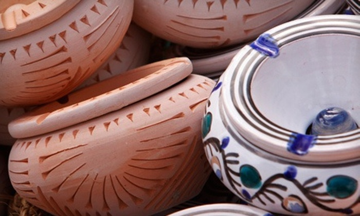 Pots and Palettes - Downtown Fredericksburg: $20 for $40 Worth of Paint-Your-Own Pottery and Studio Fees at Pots and Palettes