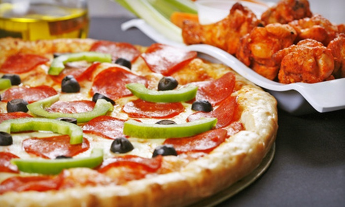 Sylvio Pizza - Multiple Locations: One Pizza and 10, 20, or 30 Jumbo Wings at Sylvio Pizza