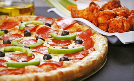 Large 1-Topping Pizza (a $13 value) and 10 Wings (a $6 value) - Sylvio Pizza in Rochester