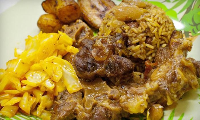 Jamaica Jamaica Cuisine - Northeast San Antonio: Jamaican Fare for Two or Four at Jamaica Jamaica Cuisine (Up to Half Off)