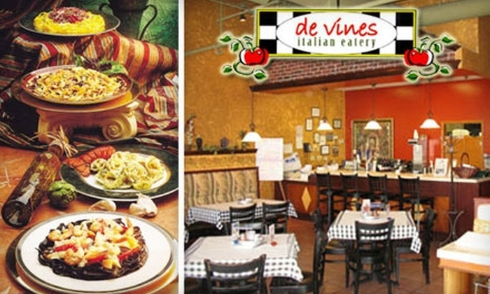 De Vines Italian Eatery - Greenbrier East: $7 for $15 Worth of Pizza, Pasta, Calzones, and More at De Vines Italian Eatery
