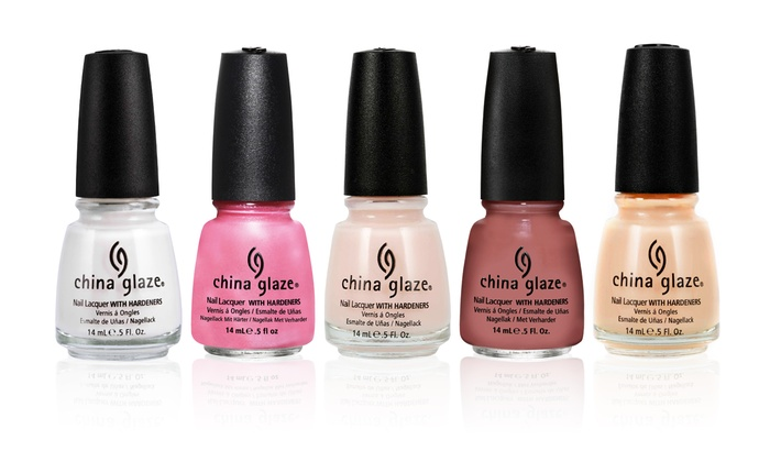 China Glaze Blushing Bride 6 Piece Nail Polish Collection