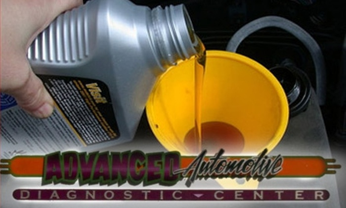 Advanced Automotive Diagnostic Center - North Omaha: $20 for a Full-Service Oil Change and Comprehensive Vehicle Inspection at Advanced Automotive Diagnostic Center ($115 Value)
