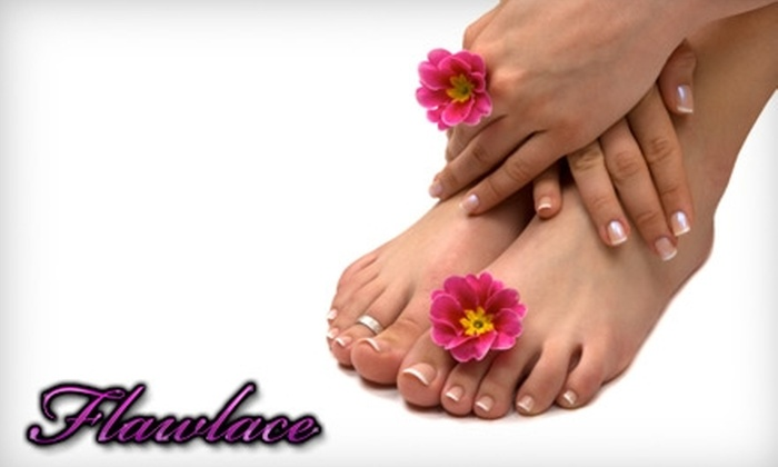 Flawlace Beauty Boutique - Canyon Gate: $29 for a Deluxe Manicure and Pedicure Plus a Glass of Champagne at Flawlace Beauty Boutique ($60 Value)