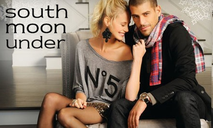 South Moon Under - Multiple Locations: $25 for $50 Worth of Designer Apparel, Accessories, and More from South Moon Under