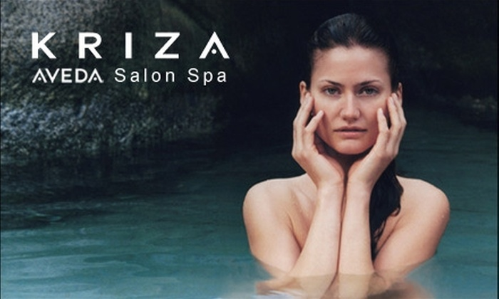 Kriza Aveda Salon Spa - Multiple Locations: $49 for a Spa Package at Kriza Aveda Salon Spa ($100 Value)