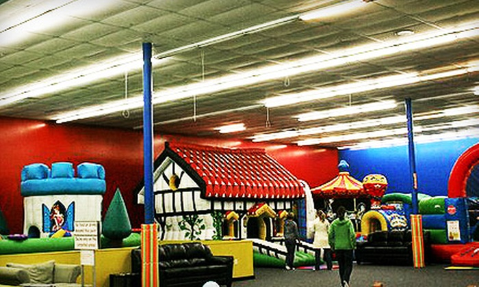 Locomotion Inflatable Play - Austin: Three- or Five-Visit Punch Card to Locomotion Inflatable Play