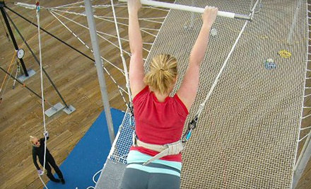 One 1-Hour Trampoline or Silks Class (a $57 value) - Trapeze School New York in Santa Monica