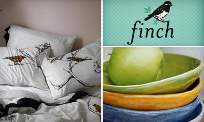 Finch - Downtown: $25 for $50 Worth of Gifts and Handcrafted Home Furnishings at Finch