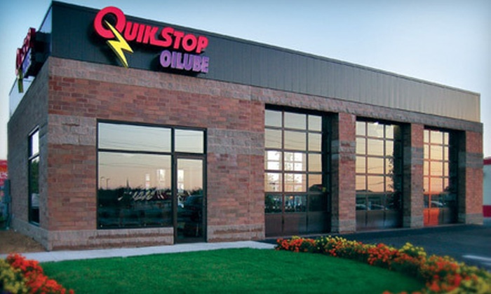 QuikStop Oilube - Multiple Locations: Car-Service Package with Oil Change and Tire Rotation, or Full-Service Oil Change at QuikStop Oilube (51% Off)