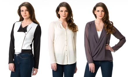 S.H.E. Women's Tops and Jackets. Multiple Styles Available from $26.99–$32.99.